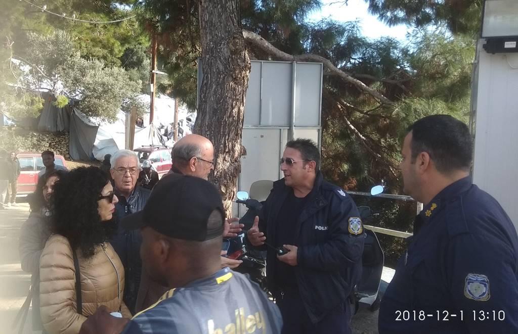 Επίσκεψη του προέδρου της Ε.Ε.Δ.Υ.Ε κ.  Σταύρου Τάσσου στο hot spot της Σάμου