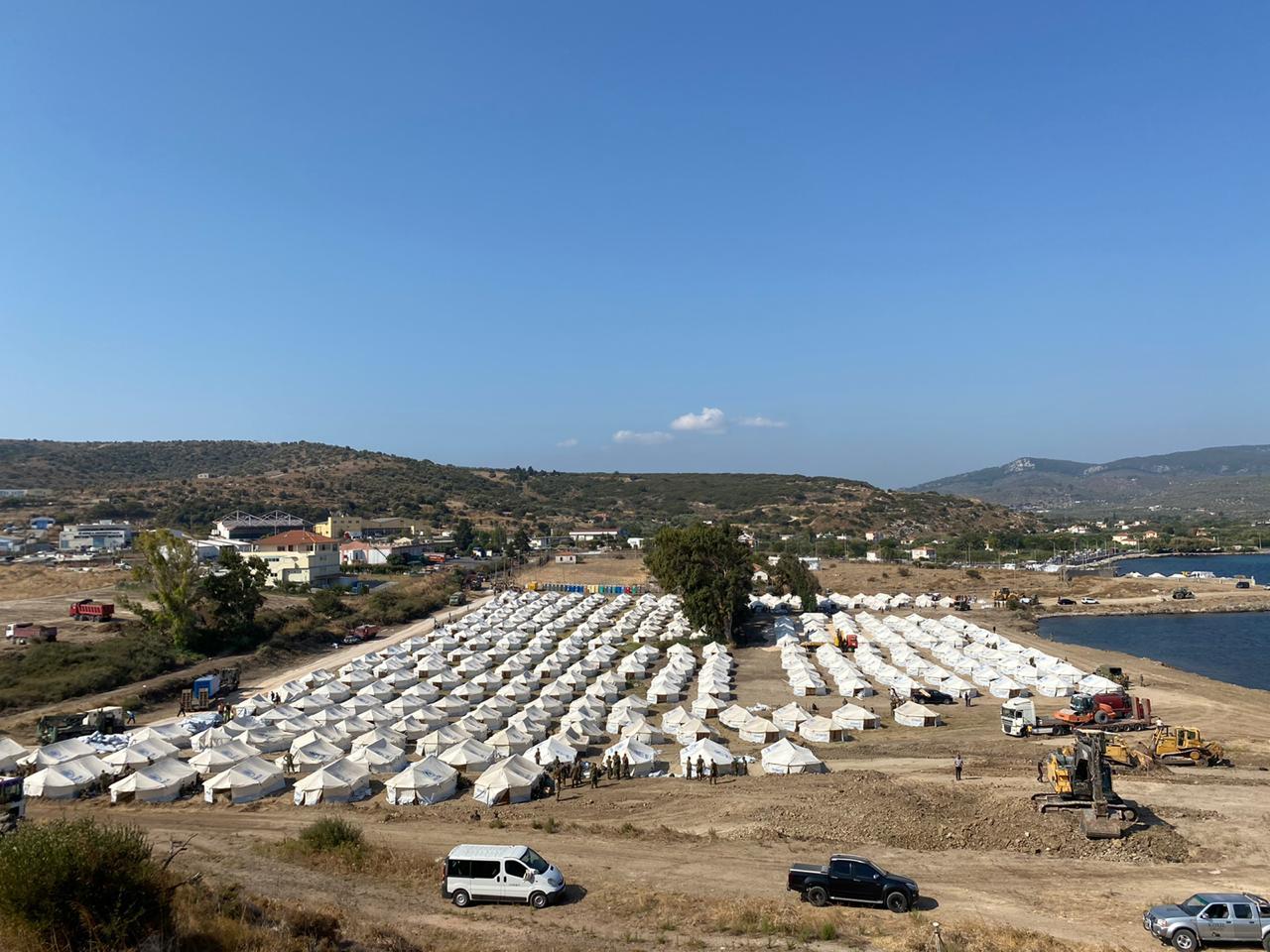Νότης Μηταράκης: Ενημέρωση για την πρόοδο των εργασιών στο νέο  προσωρινό Κέντρο Υποδοχής και Ταυτοποίησης»