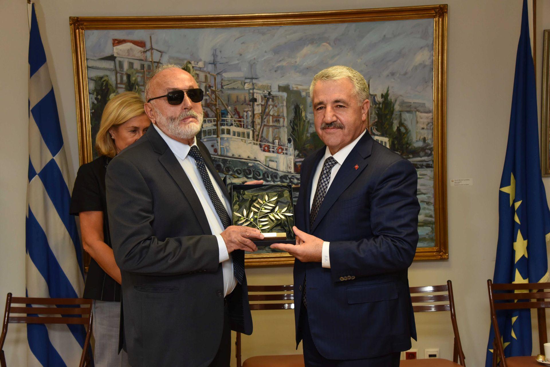 Σε θετικό κλίμα η συνάντηση του ΥΝΑΝΠ Παναγιώτη Κουρουμπλή με τον Υπουργό Μεταφορών, Ναυτιλίας και Επικοινωνιών της Τουρκίας, Αχμέτ Αρσλάν