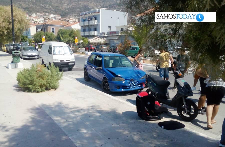 Τροχαίο ατύχημα στην παραλιακή οδό πόλεως Σάμου