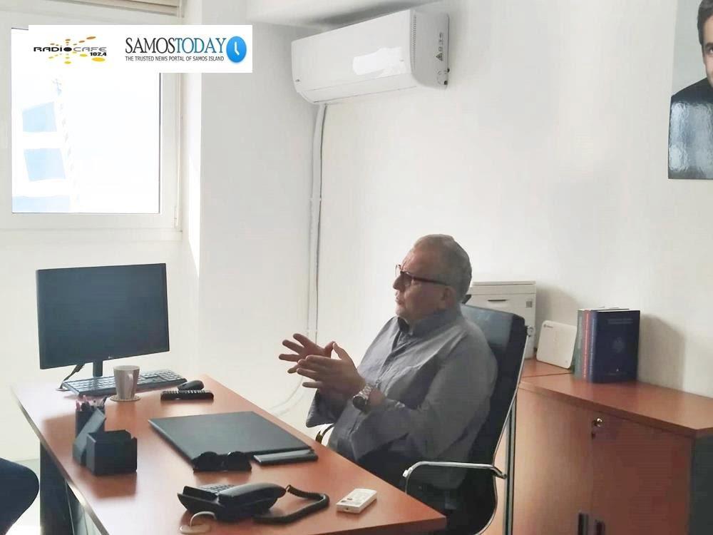 Χριστόδουλος Στεφανάδης: Μέχρι τέλος Νοεμβρίου θα έχει αποσυμφορηθεί το νησί της Σάμου από πρόσφυγες και μετανάστες