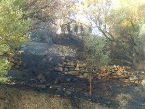 Υπό πλήρη έλεγχο η πυρκαγιά κοντά στο στάδιο Σάμου. Πυροσβέστες εκτός υπηρεσίας και εθελοντές, βοήθησαν στην κατάσβεσή της