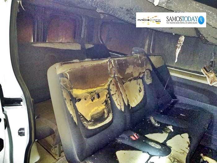Φωτιά σε αυτοκίνητο (βαν) της Μ.Κ.Ο «Άρσις». Κάηκε ολοσχερώς ο εσωτερικός χώρος