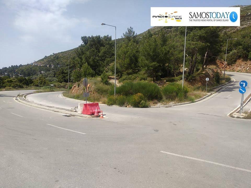 Παράταση προσωρινών κυκλοφοριακών ρυθμίσεων στην περιφερειακή οδό στο Βαθύ της Σάμου μέχρι και 07 Ιουνίου 2020