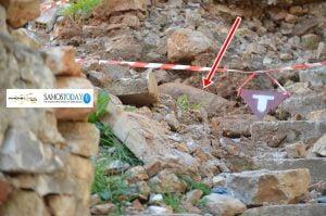 Βρέθηκε βόμβα πιθανόν του Β΄Παγκοσμίου Πολέμου, σε υπό κατεδάφιση παλιά οικία στην πόλη της Σάμου