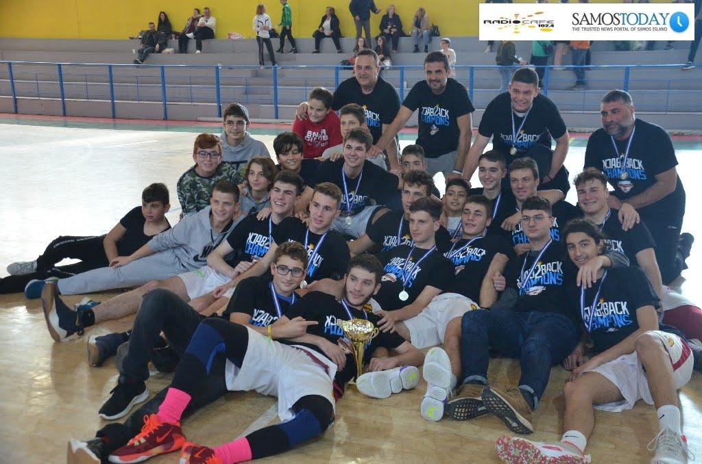Πρωταθλήτρια για δεύτερη συνεχόμενη χρονιά στο πρωτάθλημα εφήβων μπάσκετ η Αναγέννηση Σάμου