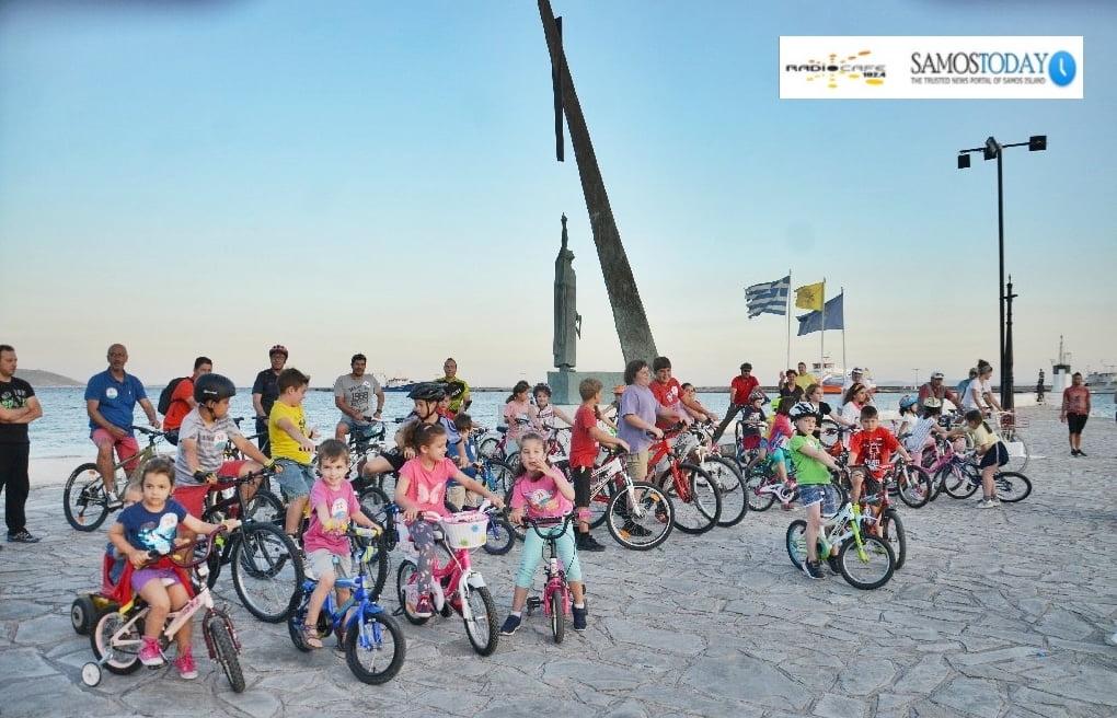 Με την ποδηλατοβόλτα στο Πυθαγόρειο, ολοκληρώθηκαν οι εκδηλώσεις για την παγκόσμια ημέρα ποδηλάτου