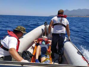 Επιτυχής επιχείρηση διάσωσης - μεταφοράς τραυματία από την Ελληνική Ομάδα Διάσωσης (παράρτημα Σάμου)