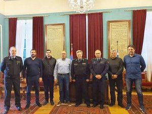 Επίσκεψη του συντονιστή Αιγαίου & Κρήτης του Πυροσβεστικού Σώματος στον Δήμαρχο Ανατολικής Σάμου