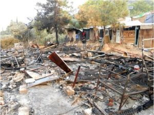 Τι αναφέρει η Π.Υ. Σάμου για την πυρκαγιά στο ΚΥΤ