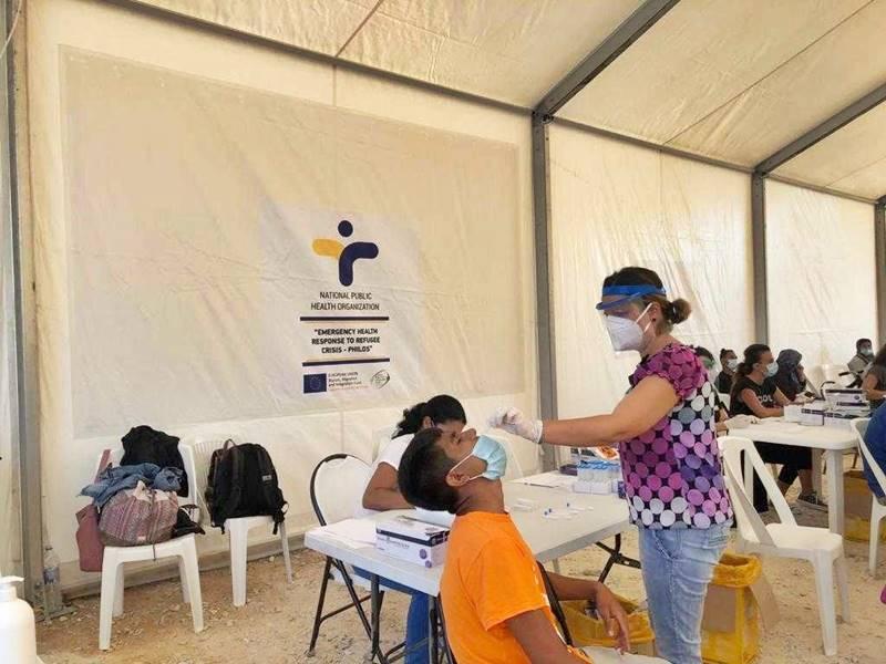 Περισσότερα από 7.000 γρήγορα τεστ (rapid test) από τα κλιμάκια του ΕΟΔΥ στο ΚΥΤ Λέσβου