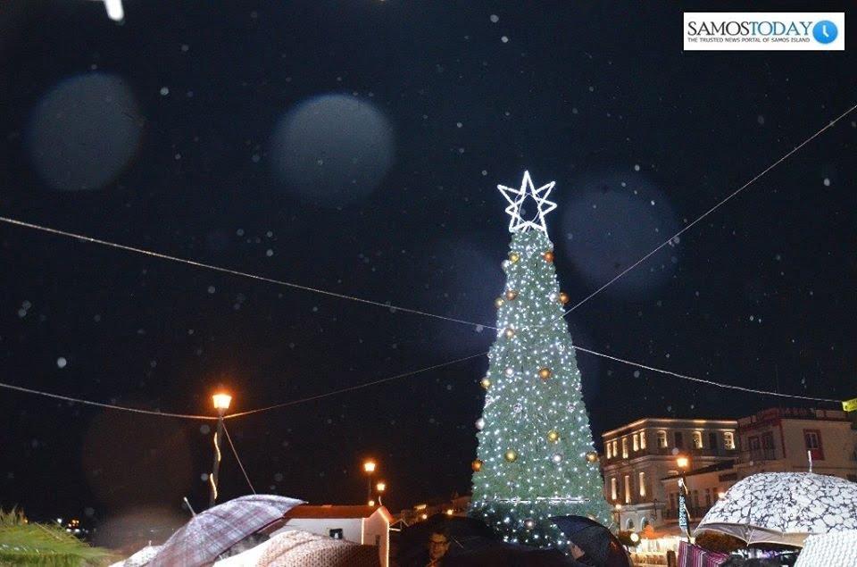 Στις 8 Δεκεμβρίου η φωταγώγηση του Χριστουγεννιάτικου δέντρου στην Πόλη της Σάμου