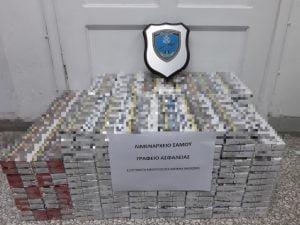 Σύλληψη δύο (2) αλλοδαπών για λαθραία καπνικά προϊόντα στη Σάμο. Κατείχαν 1.170 πακέτα τσιγάρα