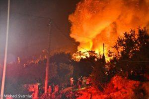 Μεγάλες καταστροφές της νότιας πλευράς του ΚΥΤ Σάμου από φωτιά