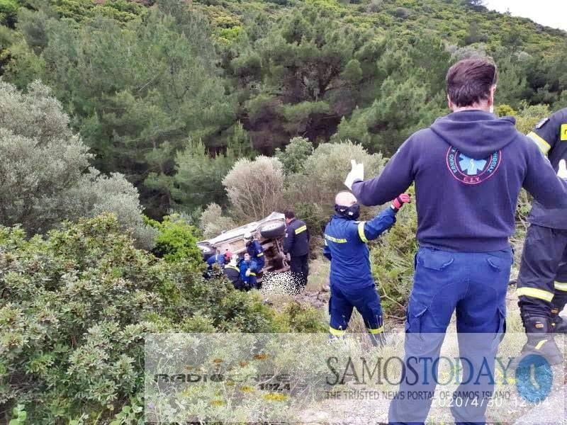 Ένας νεκρός και ένας σοβαρά τραυματίας σε τροχαίο δυστύχημα στη Σάμο
