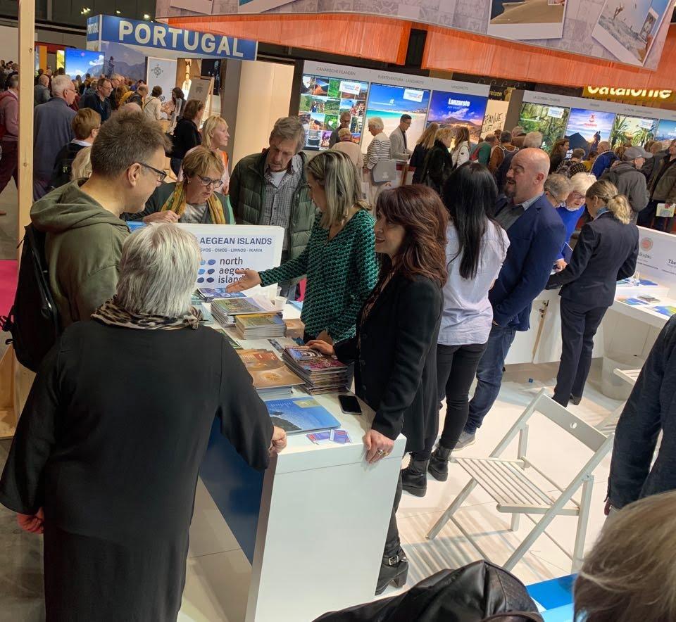 """Η Περιφέρεια Βορείου Αιγαίου συμμετείχε στη Διεθνή Τουριστική Έκθεση """"VAKANTIEBEURS""""  2020 στην Ουτρέχτη Ολλανδίας"""