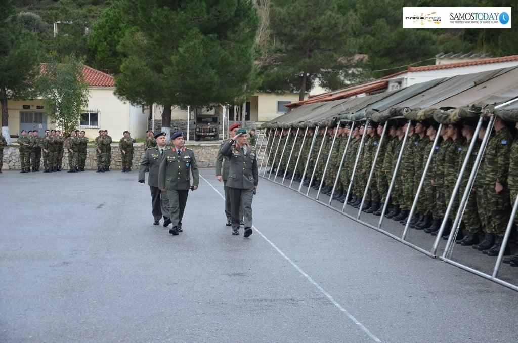 Ορκωμοσία νεοσυλλέκτων οπλιτών της A΄ΕΣΣΟ 2020, στο στρατόπεδο Αιμιλίου Πούλμαν