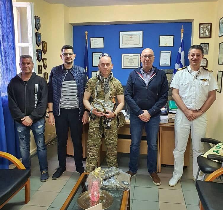 Επίσκεψη στο Λιμεναρχείο Σάμου από τον Δήμαρχο και Αντιδήμαρχο Ανατολικής Σάμου