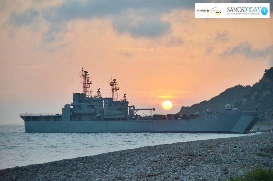 Αρματαγωγά στη Σάμο για να φιλοξενήσουν προσωρινά 1.000 περίπου μετανάστες από την αναμενόμενη κακοκαιρία