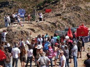 Εκδήλωση τιμής στους μαχητές του Δημοκρατικού Στρατού Σάμου στο μνημείο του Κέρκη