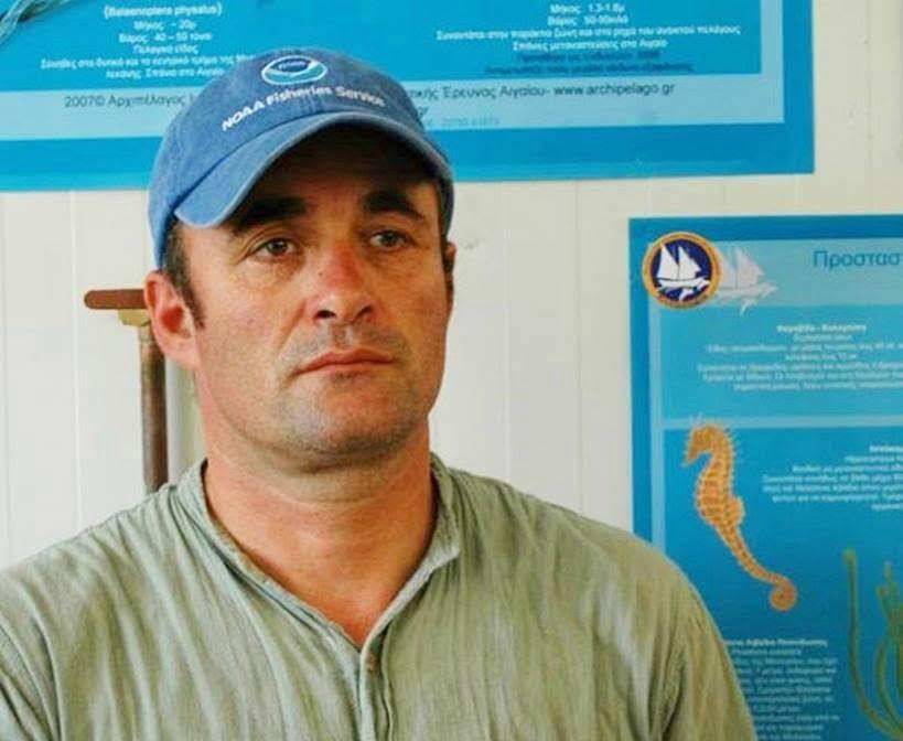 Θοδωρής Τσιμπίδης: ««Για να σκοτώσεις κάτω από αυτές τις συνθήκες  ένα τέτοιο ζώο πρέπει να είσαι δολοφόνος, δυστυχώς υπάρχουν ακόμα στη θάλασσα πολλοί από αυτούς»