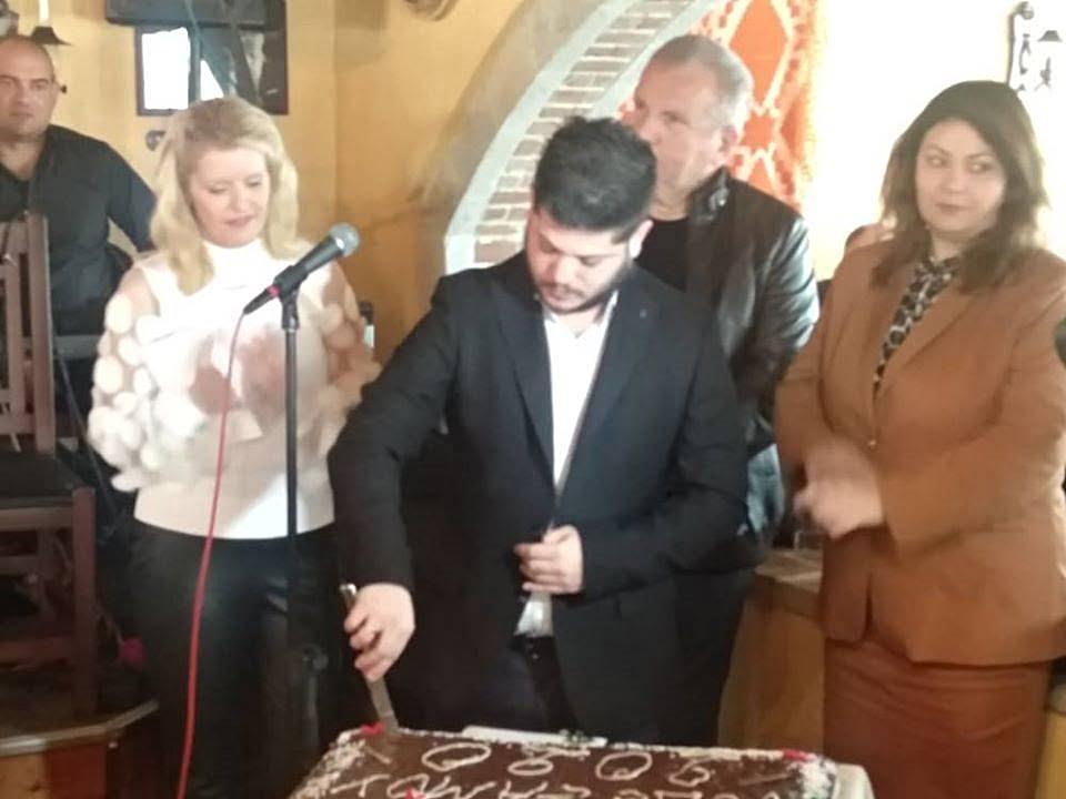 Η ΝΟ.Δ.Ε. της ΝΔ Σάμου, έκοψε την πρωτοχρονιάτικη πίτα