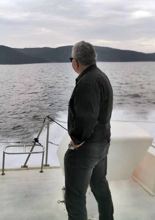 O Χριστόδουλος Στεφανάδης σε περιπολία με σκάφος του Λιμενικού Σώματος