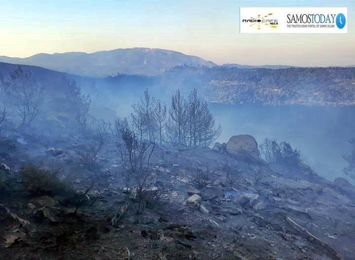 Ευχαριστήριο της ΠΕ Σάμου στην Π.Υ. Σάμου και στους εθελοντές για την κατάσβεση της πυρκαγιάς 11ης Απριλίου