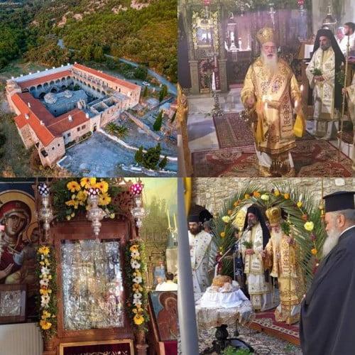 Η εορτή του Γενεσίου της Θεοτόκου στο ιστορικό μοναστήρι της Παναγίας της «Βροντιανής»