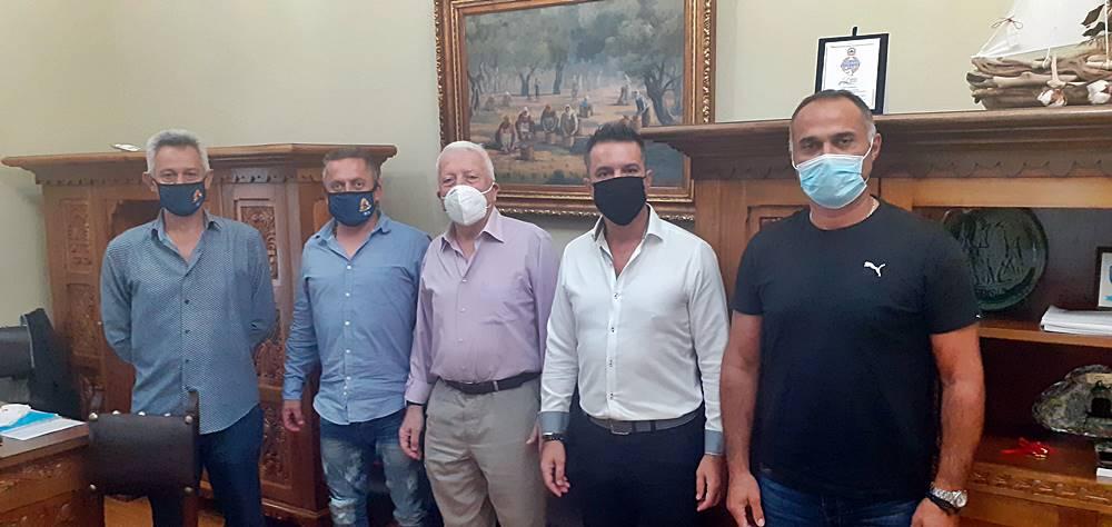 Συνάντηση του Κώστα Μουτζούρη με τον Γενικό Γραμματέα της Πανελλήνιας Ομοσπονδίας του Πυροσβεστικού Σώματος
