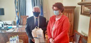 Συνάντηση Κώστα Μουτζούρη με την Αναπληρώτρια Διευθύντρια της Γενικής Διευθύνσεως της Ε.Ε. για το Μεταναστευτικό DG HOME και Επικεφαλής του Task Force της Ε.Ε. για Λέσβο κα Beate Gminder