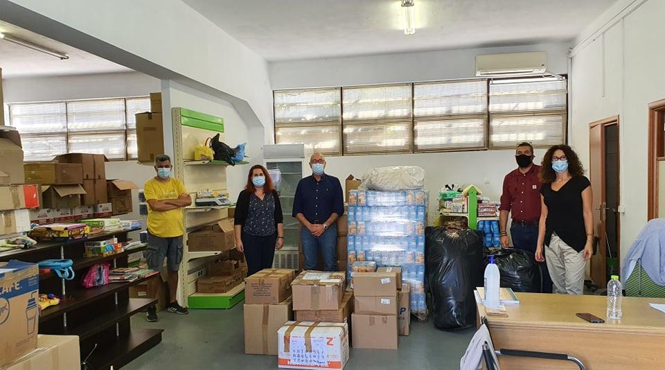 Αποστολή ειδών πρώτης ανάγκης στον Δήμο Καρδίτσας