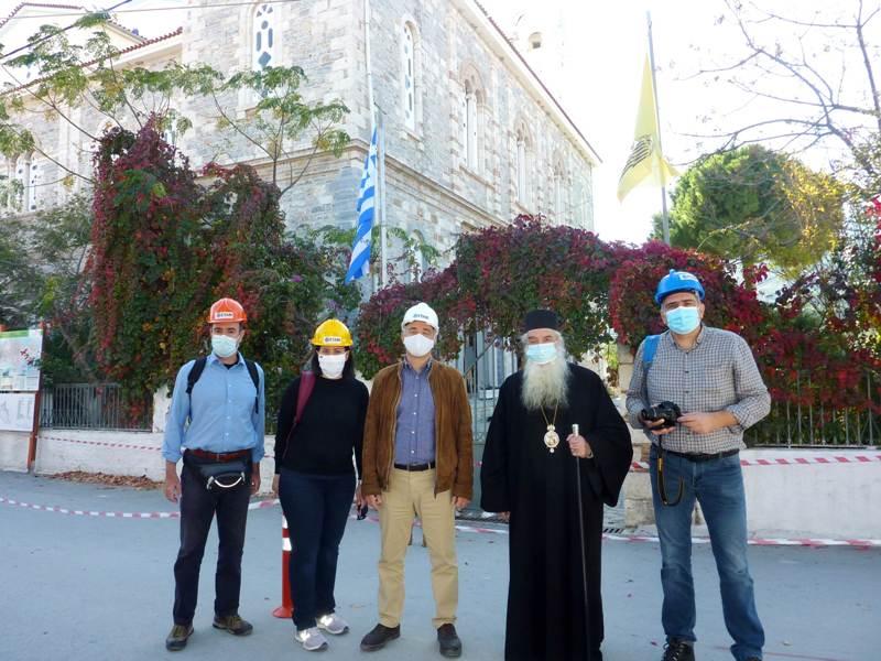 Τον  πρόεδρο και τα μέλη του Ελληνικού τμήματος Αντισεισμικής Μηχανικής Ε.Τ.Α.Μ δέχθηκε ο Σεβασμιώτατος Μητροπολίτης