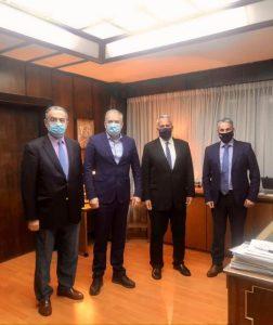 Συνάντηση Αντιπεριφερειάρχη Π.Ε. Λέσβου με τον Υπουργό Εσωτερικών και τον Υπουργό Αγροτικής Ανάπτυξης και Τροφίμων
