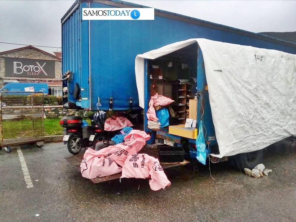 «Στο δρόμο» ακόμα οι εργαζόμενοι των ΕΛΤΑ στην πόλη της Σάμου. Μίλτος Βουδιώτης: Είμαστε εκεί ακόμα στο «προσωρινό μέρος»