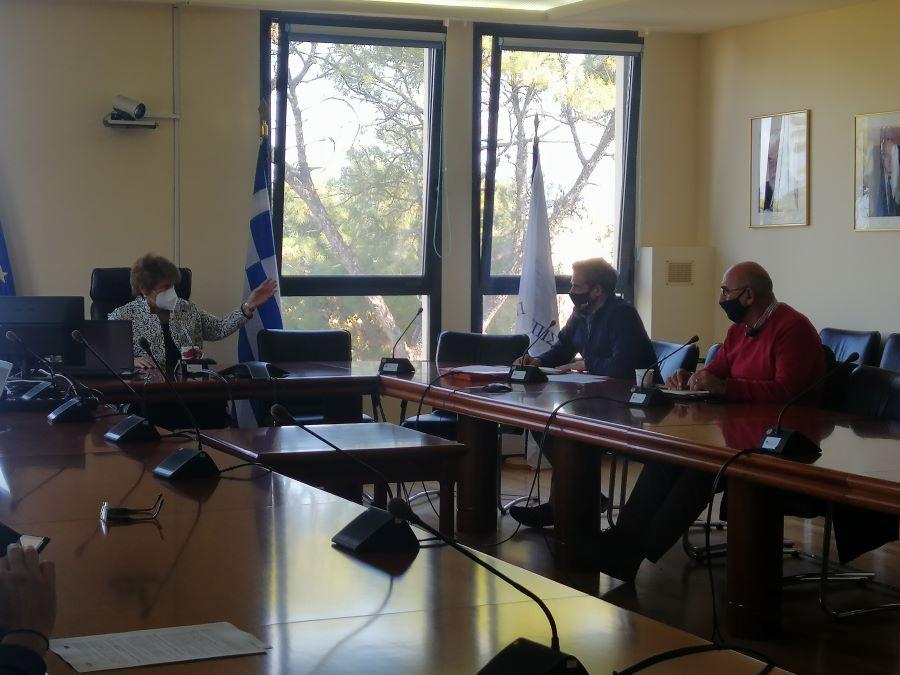 Συνάντηση εργασίας σχετικά με την συνεργασία Πανεπιστημίου Αιγαίου και Π.Β.Α