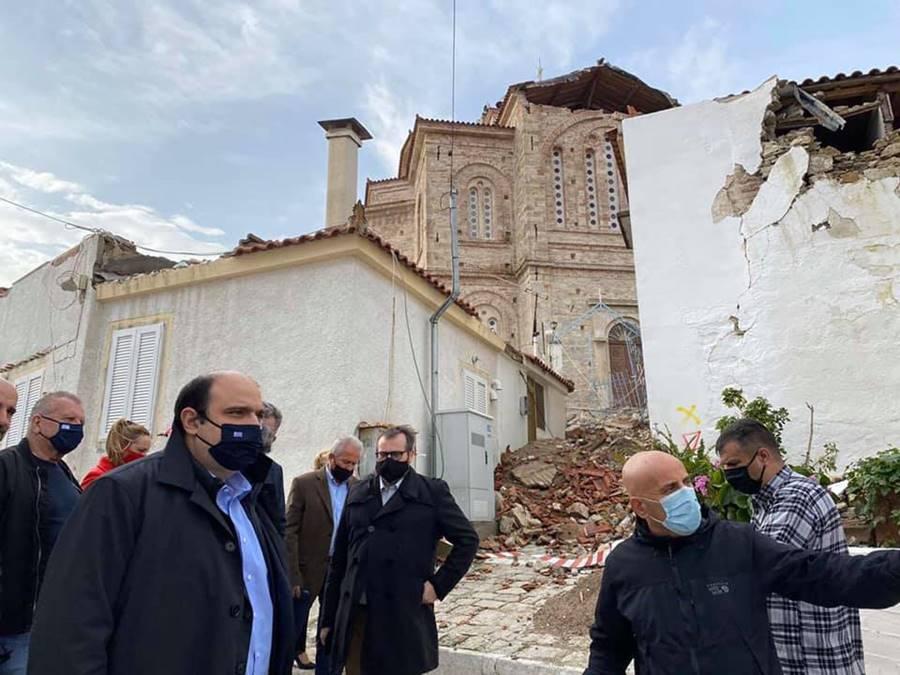 Επίσκεψη κυβερνητικού κλιμακίου στη Σάμο και προώθηση των εργασιών αποκατάστασης